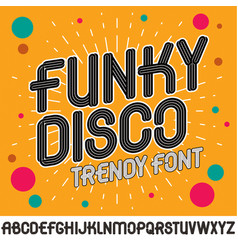 set of capital funky alphabet letters isolated vector image