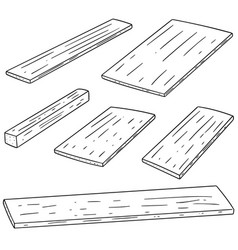 Set of plywood vector