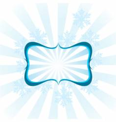 Snowflake design frame vector