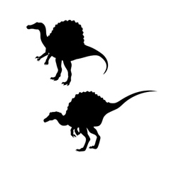 Spinosaurus dinosaur silhouettes vector image