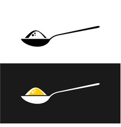 spoon with content symbol vector image
