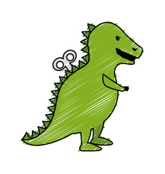 T-rex dinosaur toy icon vector
