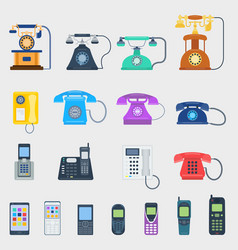 telephones icons different design vector image