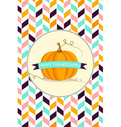 Thanksgiving background with pumpkin vector