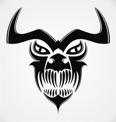 Tribal Demon Skulls vector image