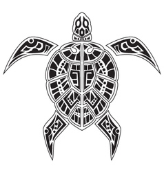 Turtles tattoo for your design vector