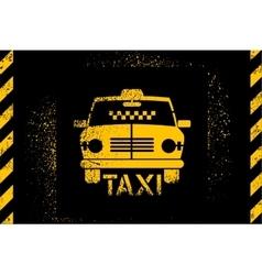 typographic graffiti retro grunge taxi cab poster vector image