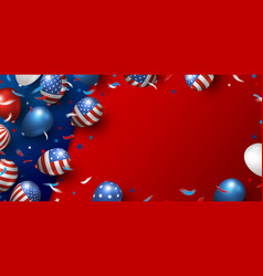 usa banner background design balloons vector image