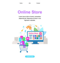 vertical banner with copy space online shopping vector image