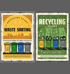 Wastes sorting and garbage recycling vector