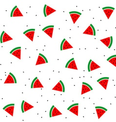 watermelon slices and seeds seamless pattern vector image