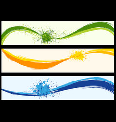 wavy abstract background banners vector image
