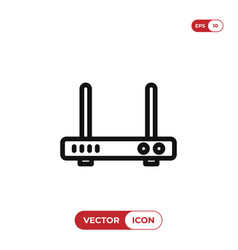 wifi modem icon vector image
