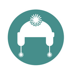Winter hat isolated icon vector