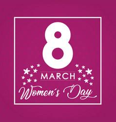 Womens day design vector