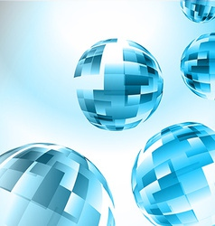 Abstract blue sphere vector image