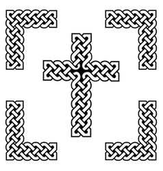 celtic style endless knot cross symbols vector image vector image