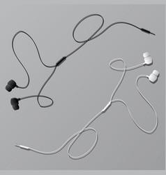 earphones with connector vector image