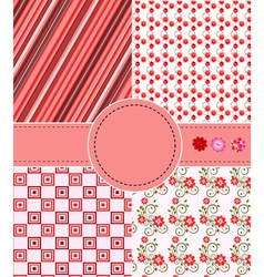 greeting patterns vector image vector image