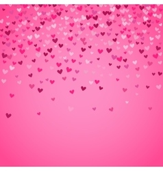 Romantic pink heart background vector image