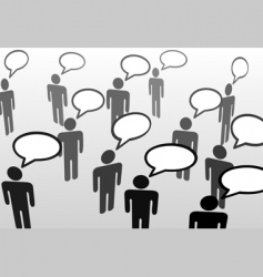 speech bubble communicatio vector image vector image