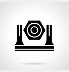 stage light glyph style icon vector image vector image