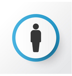 user icon symbol premium quality isolated member vector image