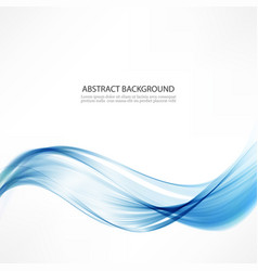 abstract backgroundwaves and a blue line vector image vector image