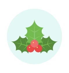 Christmas Holly Icon vector image