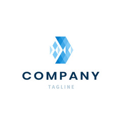 company logo template modern business identity vector image