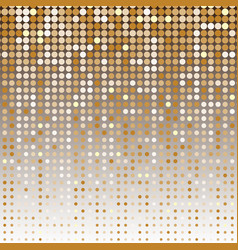 gold dot halftone abstract background vector image