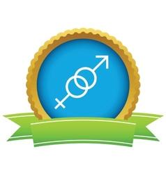 Gold sex logo vector image