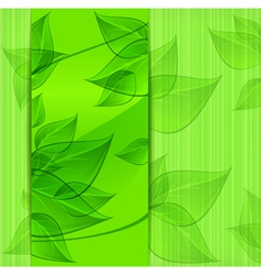 green leaves modern design vector image vector image