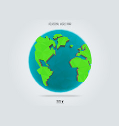 polygonal earth planet low poly design vector image vector image