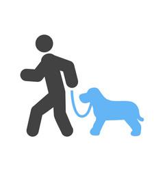 walking dog vector image vector image