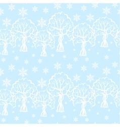 Winter pattern seamless vector image vector image