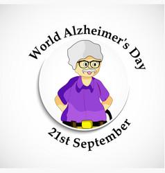World alzheimers day background vector