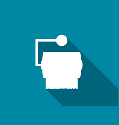 toilet paper flat icon with long shadow vector image vector image