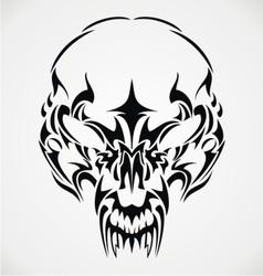 Tribal Scary Skulls vector image