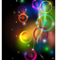 Abstract colorful background on black vector image