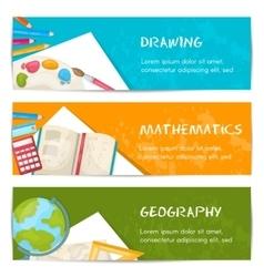 School Banner Set vector image vector image