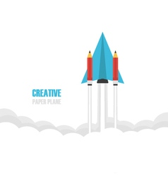 239paper plane pencil vector image