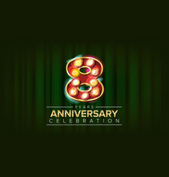 8 years anniversary banner eight eighth vector image
