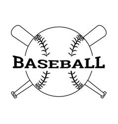 abstract baseball label vector image