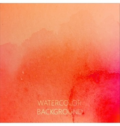 Abstract bright orange watercolor background for vector