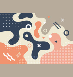 abstract geometric shapes and forms trendy vector image