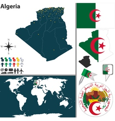 Algeria map vector