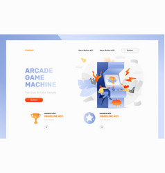 Arcade gaming website header vector