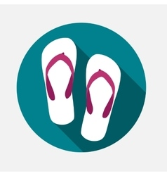 Beach Flip Flop Icon vector image