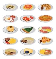 Big food set vector
